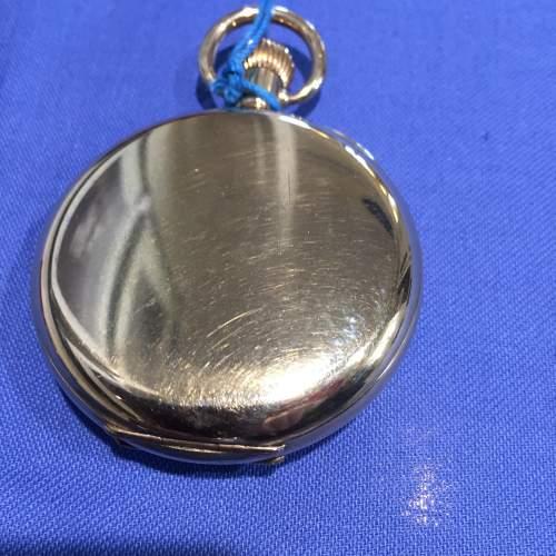 A Limit Swiss Gold Plated Half Hunter Pocket Watch image-3
