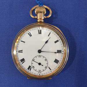 A Swiss Gold Plated Pocket Watch Circa 1900