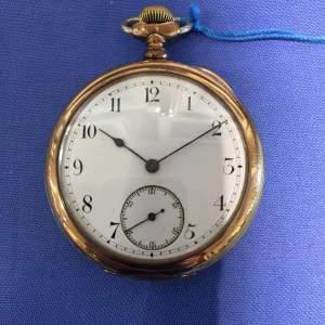 A Waltham Gold Plated Pocket Watch Circa 1900