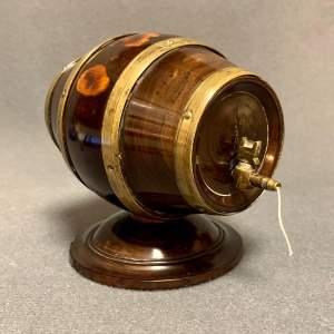 Mid 19th Century Lignum Vitae Thread Keg