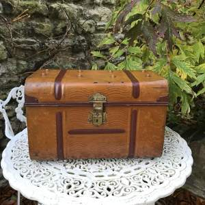 Early 20th Century Tin Steamer Trunk