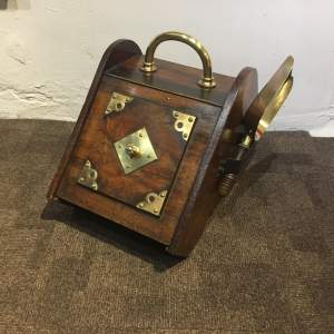 Late Victorian Wooden Coal Box and Shovel