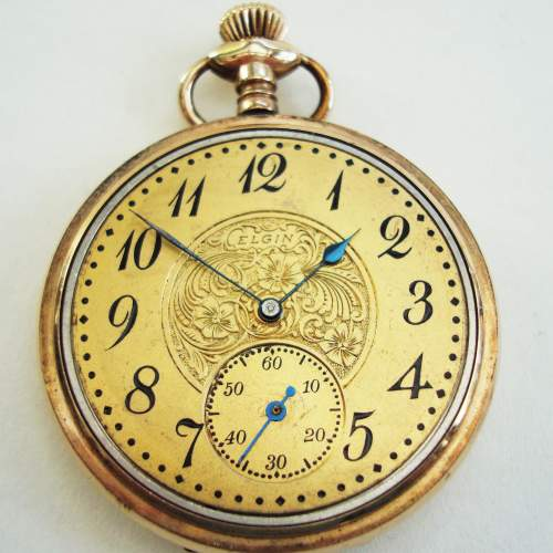 American Rolled Gold Pocket Watch by Elgin image-1