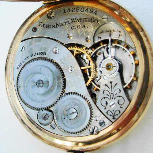 American Rolled Gold Pocket Watch by Elgin image-2