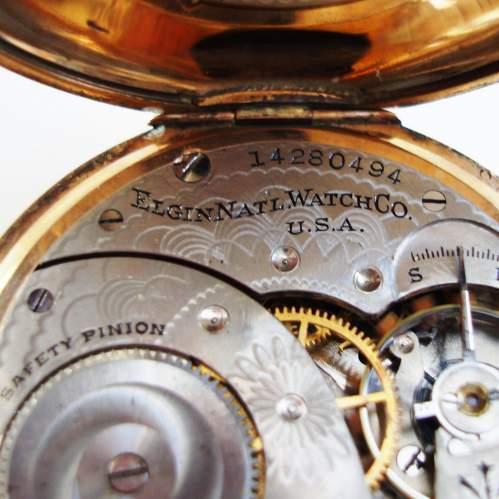 American Rolled Gold Pocket Watch by Elgin image-3
