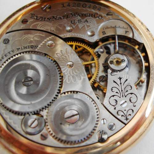 American Rolled Gold Pocket Watch by Elgin image-4