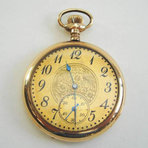 American Rolled Gold Pocket Watch by Elgin image-5