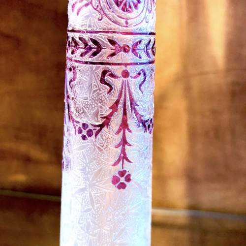Very Fine Acid Etched Baccarat Glass Vase image-2