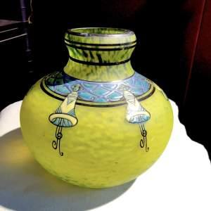 Large Delatte Nancy Glass Vase