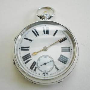 Victorian English Silver Pocket Watch