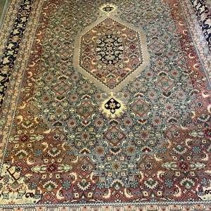 Stunning Hand Knotted Persian Rug Abadah Herati Medallion Design