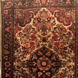 Old Hand Knotted Persian Rug Saruk Floral Design Wonderful Colour