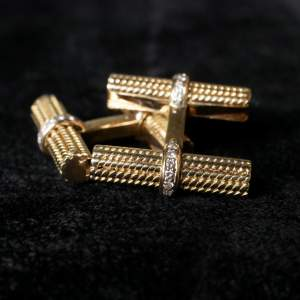 Van Cleef and Arpels Baton Diamond Set Cufflinks - 6 Sets of Batons