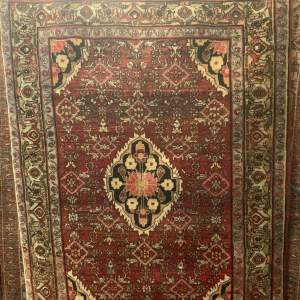 Old Hand Knotted Persian Rug Bidjar Good Quality Piece Herati