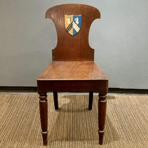 Mahogany Hall Chair with Heraldic Shield image-2