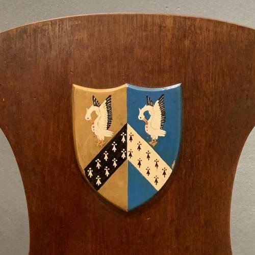 Mahogany Hall Chair with Heraldic Shield image-4