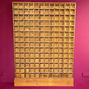 Antique Rustic Pine Storage Rack