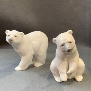 Pair of Lladro Polar Bears