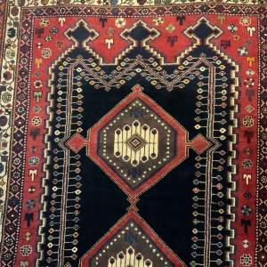 Superb Quality Hand Knotted Persian Rug Afshar Bold Design