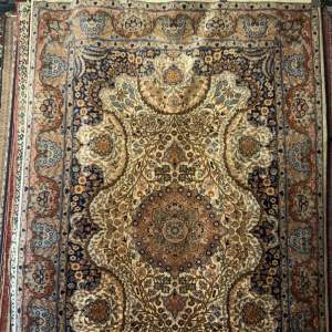 Stunning Hand Knotted Rug Lahore Floral Design Superb Quality