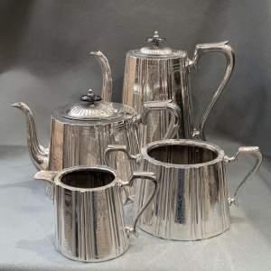 Edwardian Silver Plated Tea Service