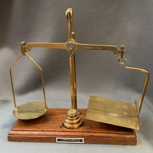 Good Quality Brass Postal Scales with Weights