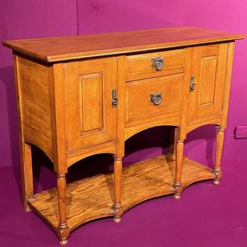 Arts and Craft Oak Dresser Base image-1