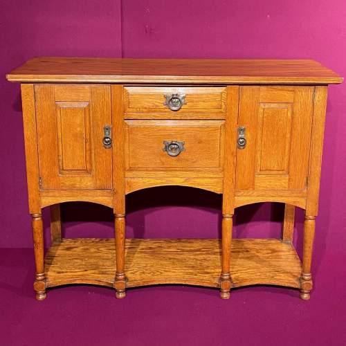 Arts and Craft Oak Dresser Base image-2