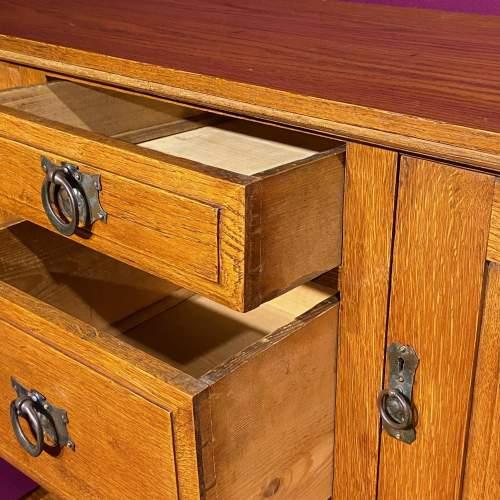 Arts and Craft Oak Dresser Base image-3