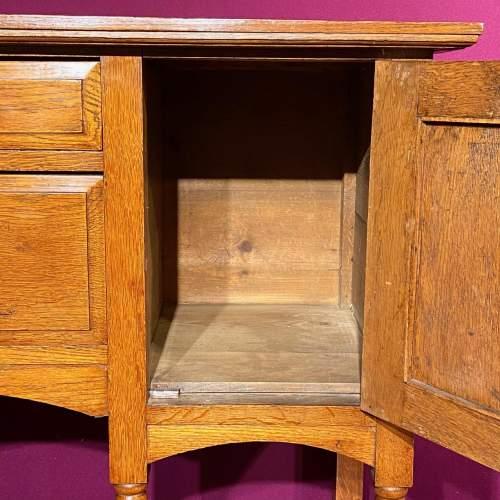 Arts and Craft Oak Dresser Base image-4