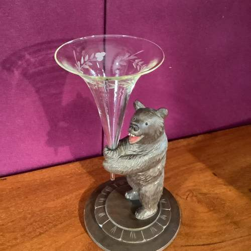 Black Forest Bear with Posy Vase image-4