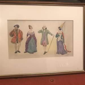 1930s Watercolour of Costume Design