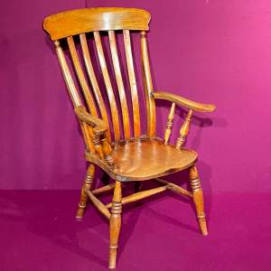 Oak and Elm High Backed Grandfather Chair