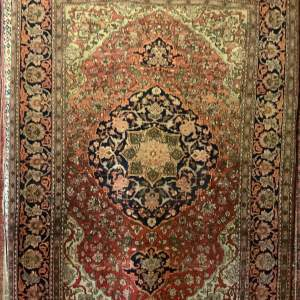 Superb Quality Old Hand Knotted Persian Rug Saruk Large Medallion