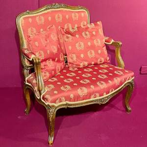 Carved Frame Upholstered Two Seater Sofa Circa 1880