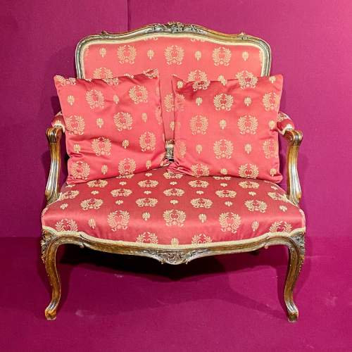 Carved Frame Upholstered Two Seater Sofa Circa 1880 image-2