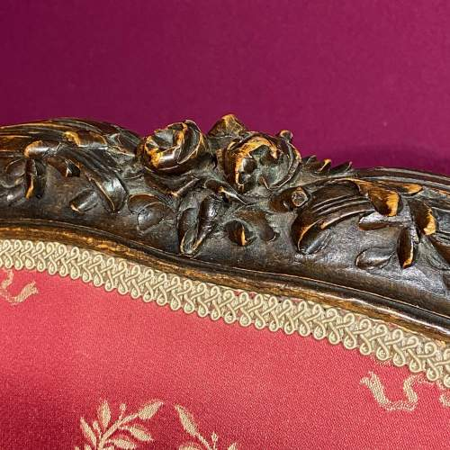 Carved Frame Upholstered Two Seater Sofa Circa 1880 image-5