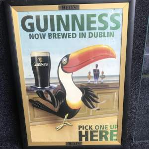 Original Guinness Toucan Poster - Now Brewed In Dublin
