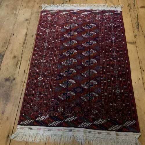 Superb Quality Hand Knotted Afghan Rug Turkoman In Tekke Design image-1