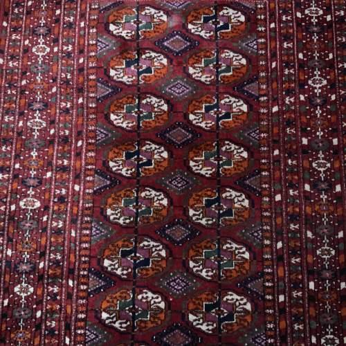 Superb Quality Hand Knotted Afghan Rug Turkoman In Tekke Design image-2