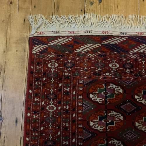 Superb Quality Hand Knotted Afghan Rug Turkoman In Tekke Design image-3