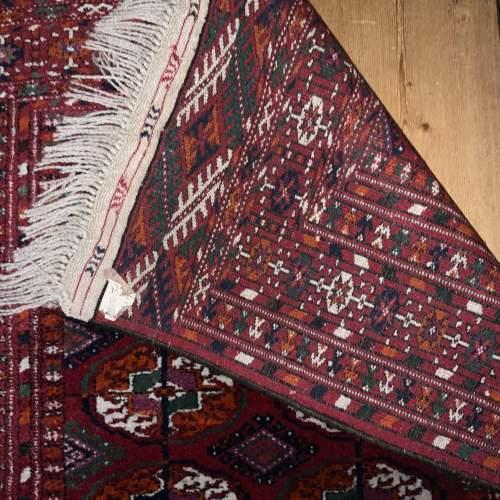 Superb Quality Hand Knotted Afghan Rug Turkoman In Tekke Design image-4