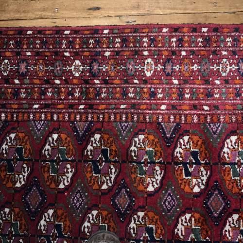 Superb Quality Hand Knotted Afghan Rug Turkoman In Tekke Design image-5