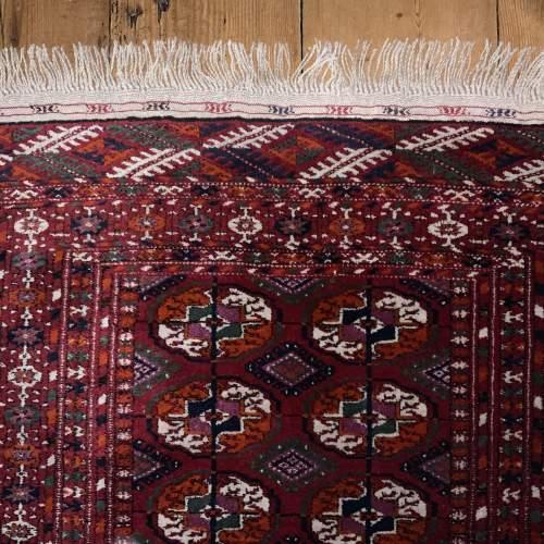 Superb Quality Hand Knotted Afghan Rug Turkoman In Tekke Design image-6