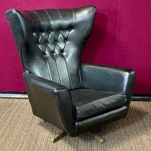 Mid Century Swivel Wingback Chair