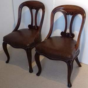Pair of Late 19th Century Mahogany Dining Chairs
