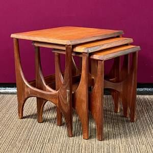 Mid Century Stonehill Teak Nest Of Tables