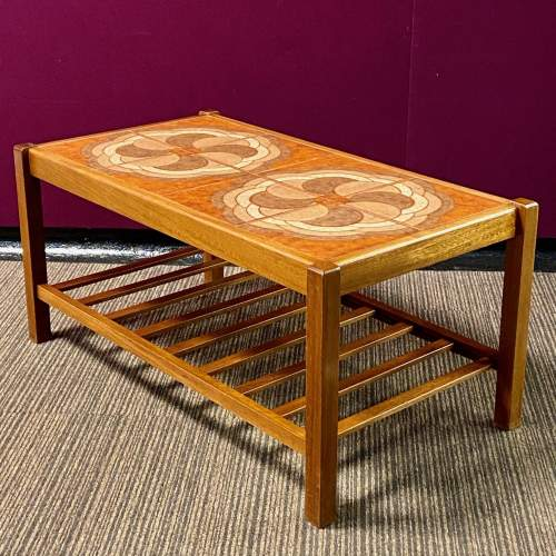 1960s Teak Two Tier Top Coffee Table image-1