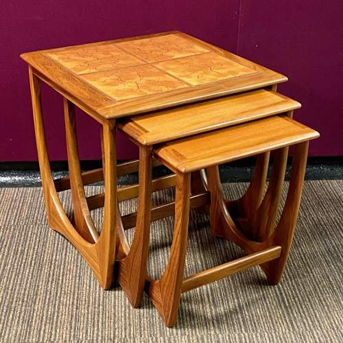1970s G-Plan Teak and Tile Top Nest Of Tables image-2