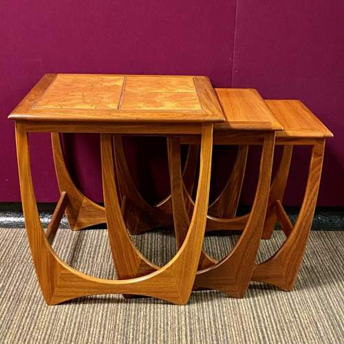 1970s G-Plan Teak and Tile Top Nest Of Tables image-3